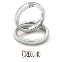 【ORECCHIO(オレッキオ)】<monaco> 適度なボリュームとダイヤモンドの輝きを楽しめる結婚指輪