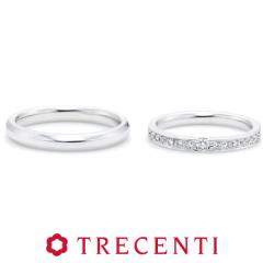【TRECENTI(トレセンテ)】フェリーチェ マリッジリング(結婚指輪) プラチナ※双子ダイヤモンドモデル