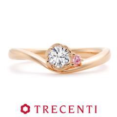 【TRECENTI(トレセンテ)】フローラ エンゲージリング ピンクゴールド