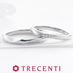 【TRECENTI(トレセンテ)】フローラ マリッジリング プラチナ