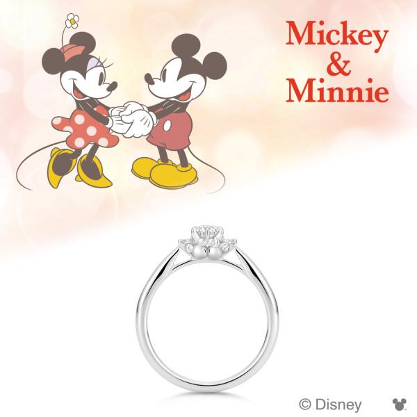 【ケイウノ ブライダル(K.UNO BRIDAL)】Disney / ミッキー&ミニー エンゲージリング-Be With Me-