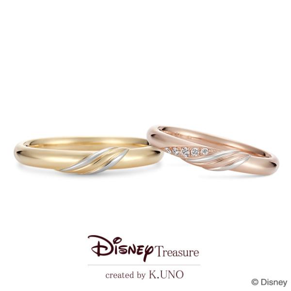 【ケイウノ ブライダル(K.UNO BRIDAL)】【新作】[Disney]Chipper Buddy/チップ&デール マリッジリング