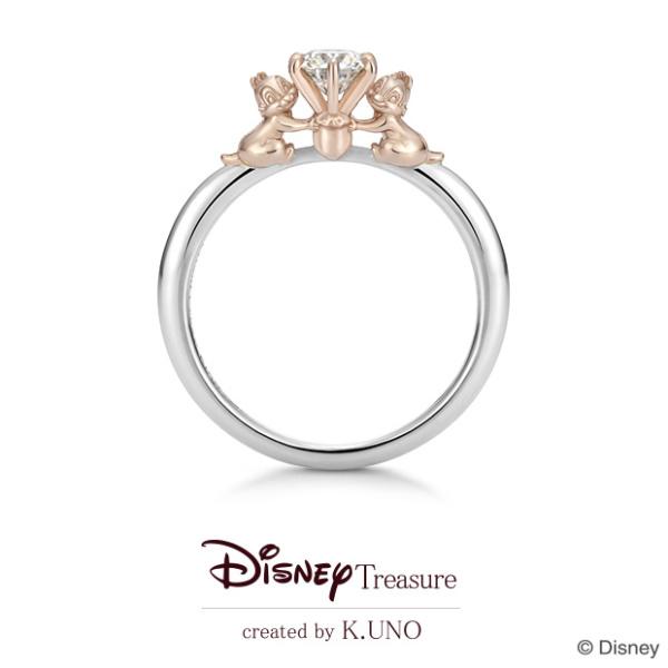 【ケイウノ ブライダル(K.UNO BRIDAL)】【新作】[Disney]Chipper Buddy/チップ&デール エンゲージリング
