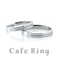 【Cafe Ring(カフェリング)】【 アニヴェルセール】華やかさと洗練されたクールさをあわせ持ったエタニティリング