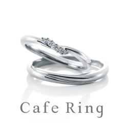 【Cafe Ring(カフェリング)】【ブルジョン】繊細にダイヤモンドを留めたマリッジリング