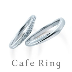 【Cafe Ring(カフェリング)】【レーヴ】ナチュラルなラインとダイヤモンドが薬指を美しく見せる結婚指輪