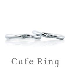 【Cafe Ring(カフェリング)】【トロワ ノワ】3石の輝くダイヤモンドが語る幸せ