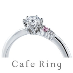 【Cafe Ring(カフェリング)】【カメリア】SPECIAL EDITION  婚約指輪 ~指に咲く椿の花~