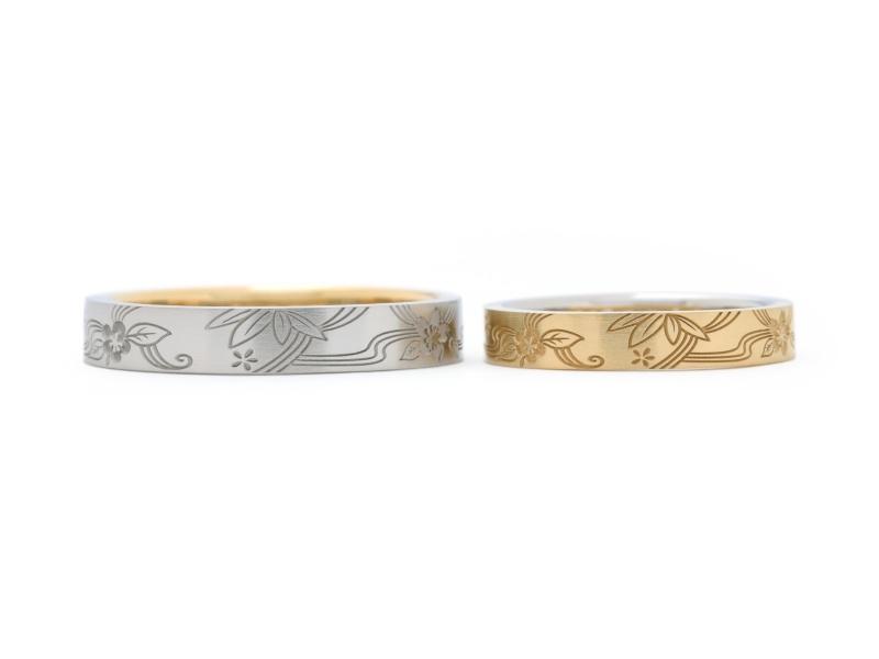 【Hamri(ハムリ)】和柄の手作り結婚指輪
