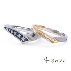 【Hamri(ハムリ)】【手作り結婚指輪】スターセブンリング Akiyoshi&Asami様