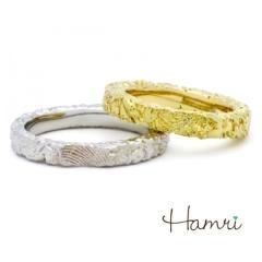 【Hamri(ハムリ)】【手作り結婚指輪】Takahiro&Nozomi様