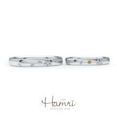 【Hamri(ハムリ)】桜の花びらひらひらリング