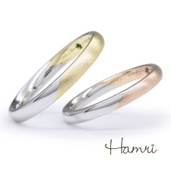 【Hamri(ハムリ)】【手作り結婚指輪】ツートンカラーリング Takahiro&Akie様