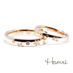 【Hamri(ハムリ)】【手作り結婚指輪】Hiroshi&Ririko様