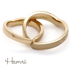 【Hamri(ハムリ)】【手作り結婚指輪】ハート知恵の輪リング Takumi&Hiroko様
