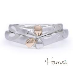 【Hamri(ハムリ)】【手作り結婚指輪】桜?(歯)リング Kouichiro&Aya様