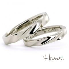 【Hamri(ハムリ)】【手作り結婚指輪】荒波とヨットリング Ayumu&Mari様