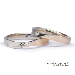 【Hamri(ハムリ)】【手作り結婚指輪】Kota&Yumiko様