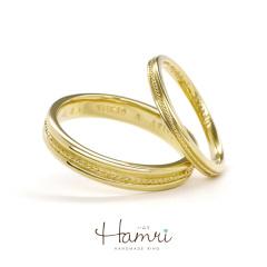 【Hamri(ハムリ)】ミルグレインのエレガントなリング