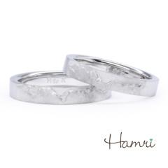 【Hamri(ハムリ)】【手作り結婚指輪】飛騨山脈(槍ヶ岳)Kouta&Hitomi様