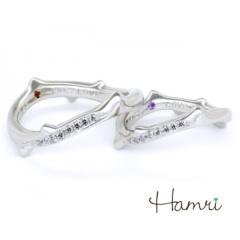 【Hamri(ハムリ)】【手作り結婚指輪】薔薇つるリング Yoshihito&Yuko様
