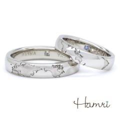 【Hamri(ハムリ)】【手作り結婚指輪】世界を一緒に回ろうリング Yasuhisa&Akina様