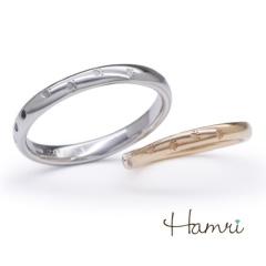 【Hamri(ハムリ)】【手作り結婚指輪】てくてく足跡リング Takamasa&Yuko様