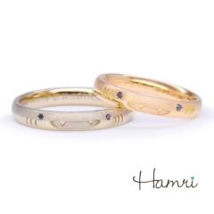 【Hamri(ハムリ)】【手作り結婚指輪】ジンベイザメのジンちゃんリング Haruki&Fumie様