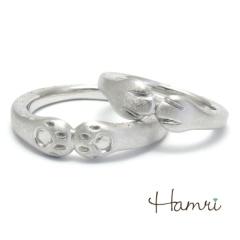 【Hamri(ハムリ)】【手作り結婚指輪】肉球(表と裏)リング Kazuki&Ami様
