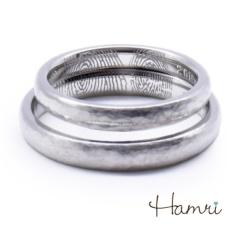 【Hamri(ハムリ)】【手作り結婚指輪】ふたりの指紋リング Sei&Maki様