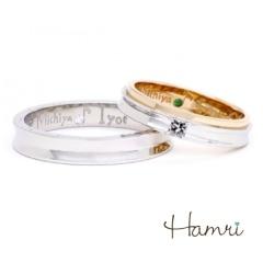 【Hamri(ハムリ)】【手作り結婚指輪】Michiya&Iyo様