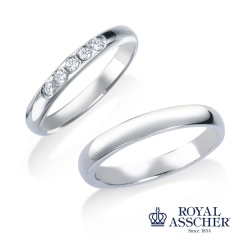 【ROYAL ASSCHER(ロイヤル・アッシャー)】WRB071(ダイヤモンド5石タイプ)/WRA061