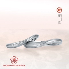 【BIJOUPIKO(ビジュピコ)】【杢目金屋】しなやかなラインにメレダイヤが輝く【桜杢】