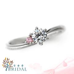 【宝寿堂(ほうじゅどう)】【宝寿堂】細身のアームに淡いピンクダイヤのメレが可憐《HD2077》