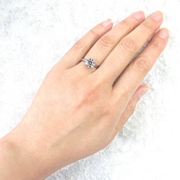 【宝寿堂(ほうじゅどう)】【宝寿堂】1.5ctダイヤモンドの圧倒的な存在感にうっとり《HE2282》