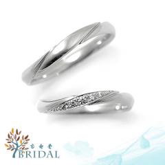 【宝寿堂(ほうじゅどう)】【宝寿堂】流れるような装飾ラインにダイヤが4粒《HM1558l/HD1558s》