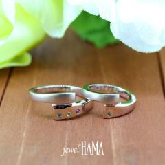 【Jewel HAMA(ジュエルはま)】【二人で作る結婚指輪】メンズ /レディースPt900