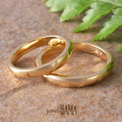 【Jewel HAMA(ジュエルはま)】【二人で作る結婚指輪】メンズ /レディースK18YG