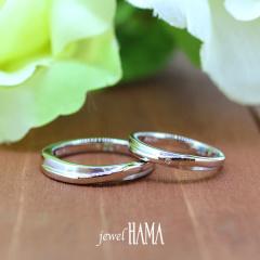 【Jewel HAMA(ジュエルはま)】【二人で作る結婚指輪】メンズ/レディースPt900