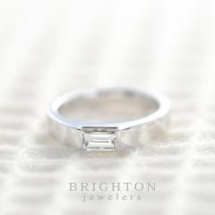 【BRIGHTON jewelers(ブライトンジュエラーズ)】 Step cut Diamond ring [ステップカットダイヤモンドリング]