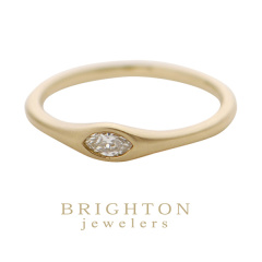 【BRIGHTON jewelers(ブライトンジュエラーズ)】Gold Marquise Diamond Ring