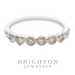 【BRIGHTON jewelers(ブライトンジュエラーズ)】Millgraining with Heart Ring