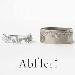 【AbHeri(アベリ)】アベリ マリッジリング  [花綱飾り]