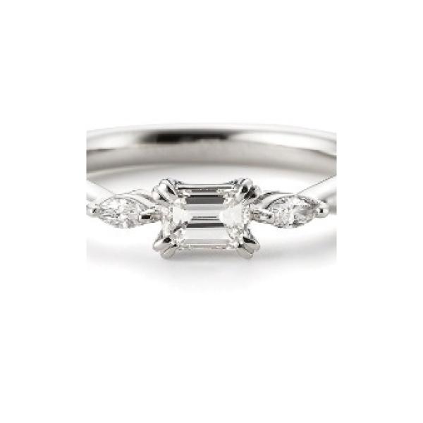 【garden(ガーデン)】ジャスミン~エメラルドカットダイヤ×マーキスダイヤで他にはないデザイン