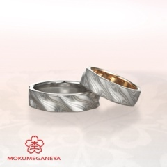 【garden(ガーデン)】【杢目金屋】ふたりのこだわりを詰め込んだ結婚指輪
