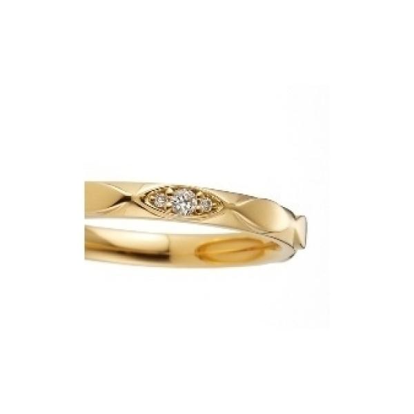 【garden(ガーデン)】ゼラニウム~ マーキス方のブロックが連なった動きのある軽やかな結婚指輪