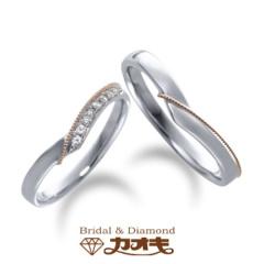 【カオキ ダイヤモンド専門卸直営店 】☆オシャレ好きなお二人に☆kaoki shunran