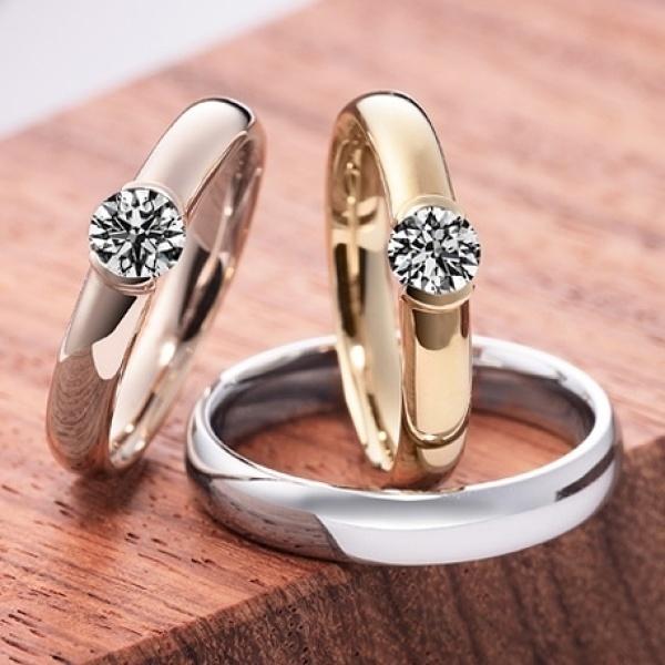 【カオキ ダイヤモンド専門卸直営店】しっかりフォルムのシンプルリング。普段使いのブラッジリングにも・・・
