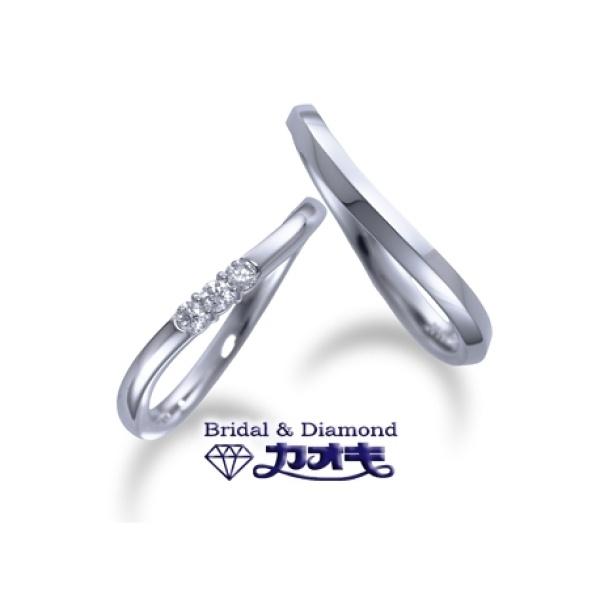 【カオキ ダイヤモンド専門卸直営店】☆やっぱり人気のシンプルシリーズ☆ウエーブ