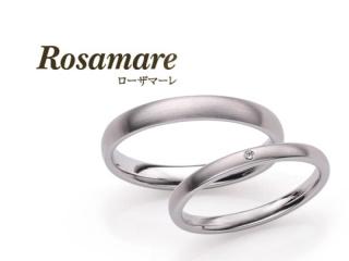 【Rosamare(ローザマーレ)】ホワイトゴールドシンプルマリッジリング (329)